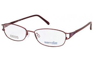 Marcolin MA7301 Eyeglass Frames - Shiny Bordeaux Frame Color