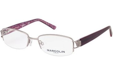 Marcolin MA7304 Eyeglass Frames - Shiny Gun Metal Frame Color