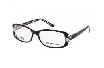 Marcolin MA7309 Eyeglass Frames - Black/Crystal Frame Color