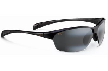 Maui Jim Hot Sands Sunglasses, Gloss Black, Grey Lenses, Gloss Black 426-02