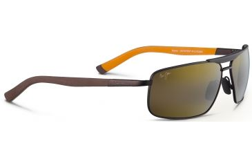 Maui Jim Keanu Sunglasses, Matte Chocolate/Orange, HCL Bronze Lenses, Matte Chocolate/Orange H271-01M