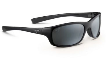 Maui Jim Kipahulu Sunglasses - Gloss Black Frame and Neutral Grey Polarized Lens 279-02
