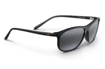 125af526d15a Maui Jim Voyager Sunglasses, Gloss Black, Grey Lenses, Gloss Black 178-02
