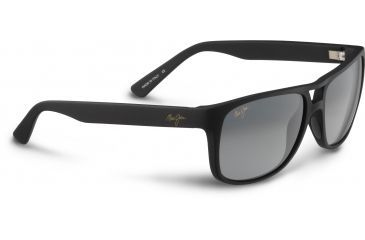 Maui Jim Waterways Sunglasses, Matte Black Rubber, Grey Lenses, Matte Black Rubber GS267-02MR