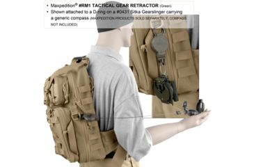 Maxpedition Tactical Gear Retractor Snap Ring, Khaki, Medium RM1K