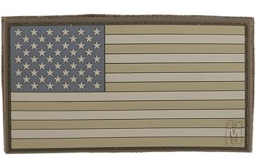 Maxpedition USA 3.25 in. x 1.75 in. Large Flag Patch, Glow USA2Z