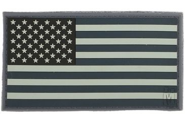 Maxpedition USA 3.25 in. x 1.75 in. Large Flag Patch, Stealth USA2X