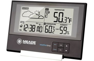 Meade Slim Line Personal Weather Station with Atomic Clock, 3 Remotes TE346W