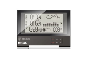 Meade Slim Line Personal Weather Station with Atomic Clock, One Remote TE636W
