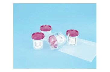 Medegen Medical Specimen Containers, Polypropylene, with Caps PC8827-103S Sterile, Individually Wrapped