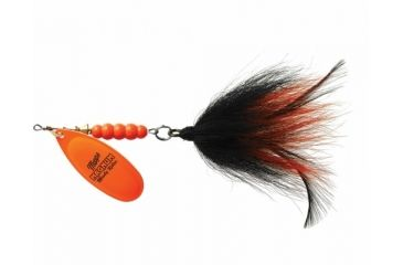 Mepps Magnum Musky Killer 1-1/4oz. - Hot Orange/Black Orange Tail 361469