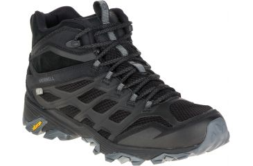 Merrell Moab FST Mid Waterproof Hiking Boot - Men's-Noire-Medium-8