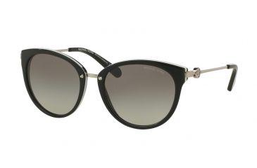 1ee5b6c67a Michael Kors ABELA III MK6040 Sunglasses 312911-55 - Black White Frame