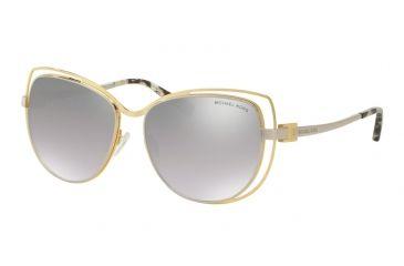 980ab08c5d Michael Kors AUDRINA I MK1013 Sunglasses 11196V-58 - Gold Silver Frame