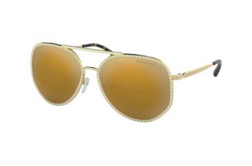 5fa1f778c4 Michael Kors MIAMI MK1039B Sunglasses 10147P-58 - Shiny Pale Gold Frame