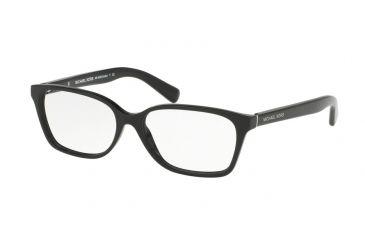 e1df1b580637 Michael Kors MK4039F Single Vision Prescription Eyeglasses 3177-54 - Black  Frame