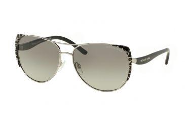 f32c0550d85af Michael Kors SADIE 1 MK1005 Sunglasses 105911-59 - Black Silver  Leopard black Frame