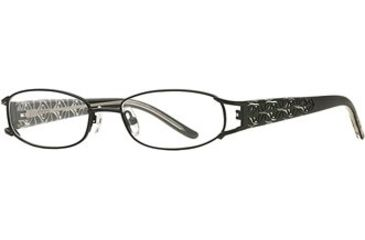 Michael Stars MS Abyss SEMS ABYS00 Eyeglass Frames - Black SEMS ABYS004930 BK