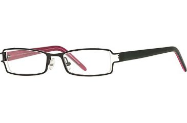 Michael Stars MS Ambitious SEMS AMBI00 Eyeglass Frames - Black SEMS AMBI004730 BK