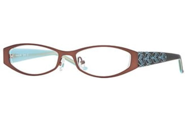 Michael Stars MS Bloom SEMS BLOO00 Single Vision Prescription Eyewear - Java SEMS BLOO004930 BN