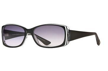Michael Stars MS Tranquil SEMS TRAN06 Single Vision Prescription Sunglasses SEMS TRAN065532 BK - Lens Diameter 57 mm, Frame Color Black Lucite, Lens Diameter 51 mm