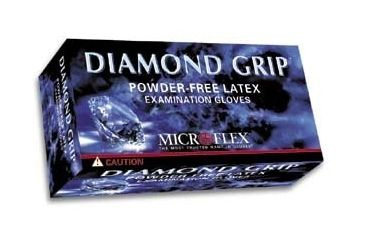 Microflex Diamond Grip Latex Gloves, Microflex MF-300-XS X-Small