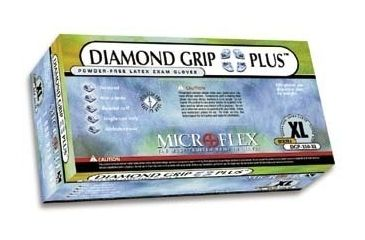Microflex Diamond Grip Plus Latex Gloves, Microflex DGP-350-L