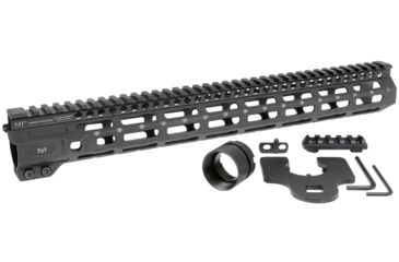 10-Midwest Industries AR-15 Free Float 1-Piece Combat Rail Handguard