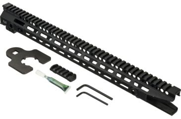 2-Midwest Industries One Piece Free Floating AR Rifles Extended 17.5 Inch Rail, M-LOK Compatible