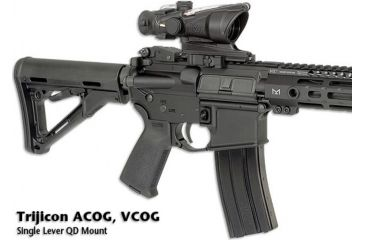 6-Midwest Industries Trijicon ACOG, V-COG 1 Lever QD Mount