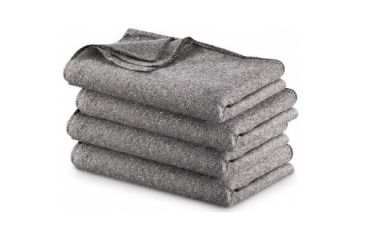 1-Military Surplus Gray Wool Blend Blanket