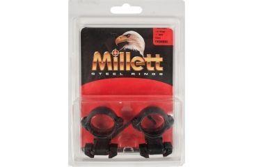 Millett Angle-Loc Weaver Style Riflescope Rings, 1in, Medium, Matte, Tikka TK00002