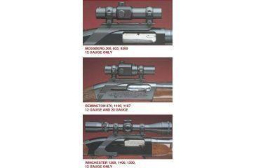 Millett Shotgun Saddle Mount, 1in - Matte Remington 870,1100,1187, 20 Gauge