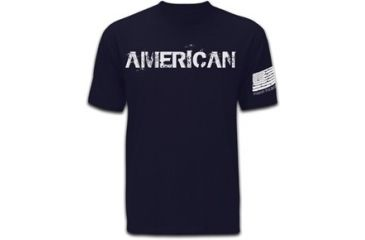 Mission First Tactical American T-Shirt, Navy Blue, Small MFTAMT-N-S