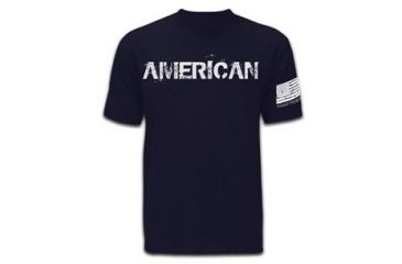 Mission First Tactical American T-Shirt, Navy Blue, Medium MFTAMT-N-M