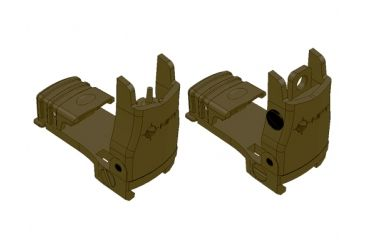 mission first tactical back up polymer flip up front sight with