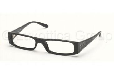 30c5b6fce070 Miu Miu MU07DV SV Prescription Eyeglasses Gloss Black Frame   50 mm  Prescription Lenses