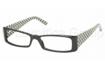 Miu Miu MU 09GV Eyeglasses Styles Gloss Black Frame w/Non-Rx 52 mm Diameter Lenses, 1AB1O1-5215, Miu Miu MU 09GV Eyeglasses Styles Gloss Black Frame w/Non-Rx 52 mm Diameter Lenses