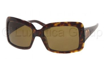 Miu Miu MU 16GS Sunglasses Styles Tortoise Frame / Brown Lenses, 3AK3N1-5718, Miu Miu MU 16GS Sunglasses Styles Tortoise Frame / Brown Lenses