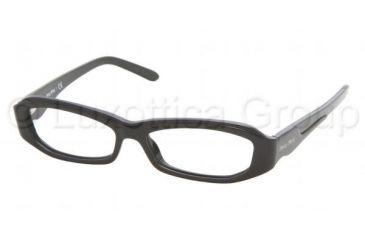 22ff8c87f02a Miu Miu MU20FV Progressive Eyeglasses - Gloss Black Demo Lens Frame   51 mm  Prescription Lenses
