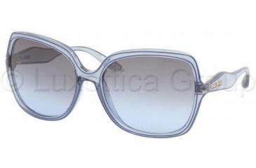 Miu Miu MU01MS Sunglasses BIL5I1-6118 - Crystal Blue Blue Gray Gradi