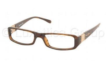 Miu Miu MU14EV Eyeglasses Styles - Striped Brown Frame w/Non-Rx 51 mm Diameter Lenses, 8AX1O1-5116