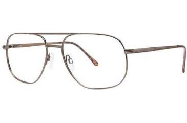 Moderato Moderato 202 Single Vision Prescription Eyeglasses - Frame Brown, Size 58/17mm MDMODERATO20202