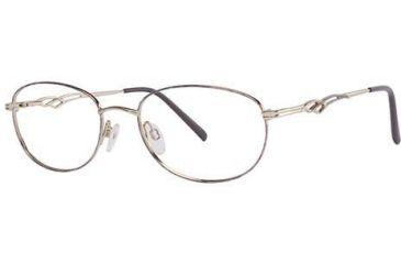 Moderato Moderato 210 Progressive Prescription Eyeglasses - Frame Gold-Violet, Size 53/18mm MDMODERATO21001