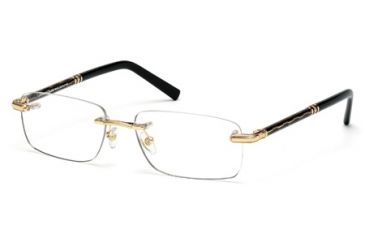 Mont Blanc MB0432 Eyeglass Frames - Shiny Dark Nickeltin Frame Color