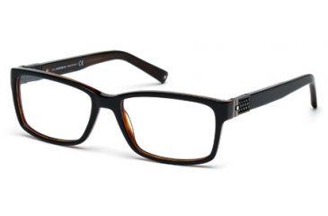 Mont Blanc MB0443 Eyeglass Frames - Shiny Black Frame Color