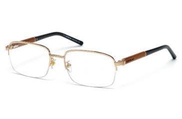 Mont Blanc MB0447 Eyeglass Frames - Shiny Rose Gold Frame Color