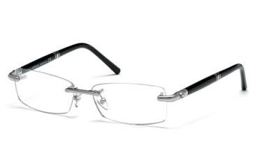 Mont Blanc MB0474 Eyeglass Frames - Shiny Palladium Frame Color