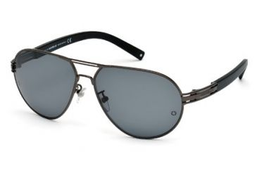 Mont Blanc MB401S Sunglasses - Matte Gun Metal Frame Color, Smoke Polarized Lens Color