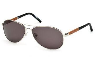 Mont Blanc MB409S Sunglasses - Shiny Palladium Frame Color, Smoke Lens Color